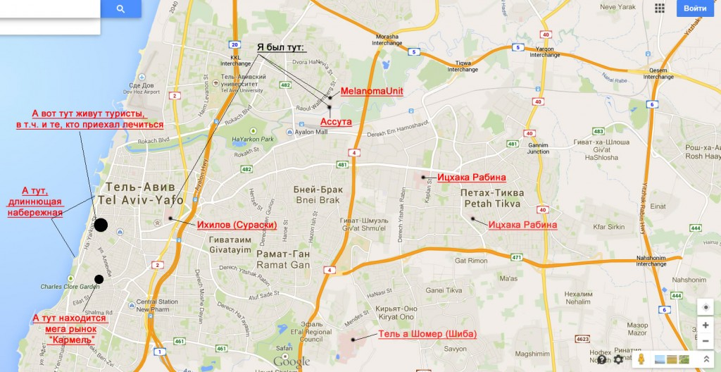 Больницы Тель Авива. Израиль