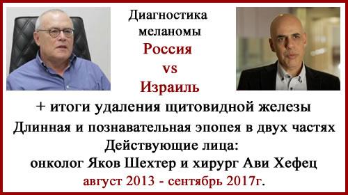 Диагностика меланомы. Россия vs Израиль. Отзыв. Обновлено 09.09.2017
