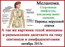 Лечение меланомы. Сторожевые лимфоузлы