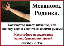 Меланома. Зависимость от родинок на руке