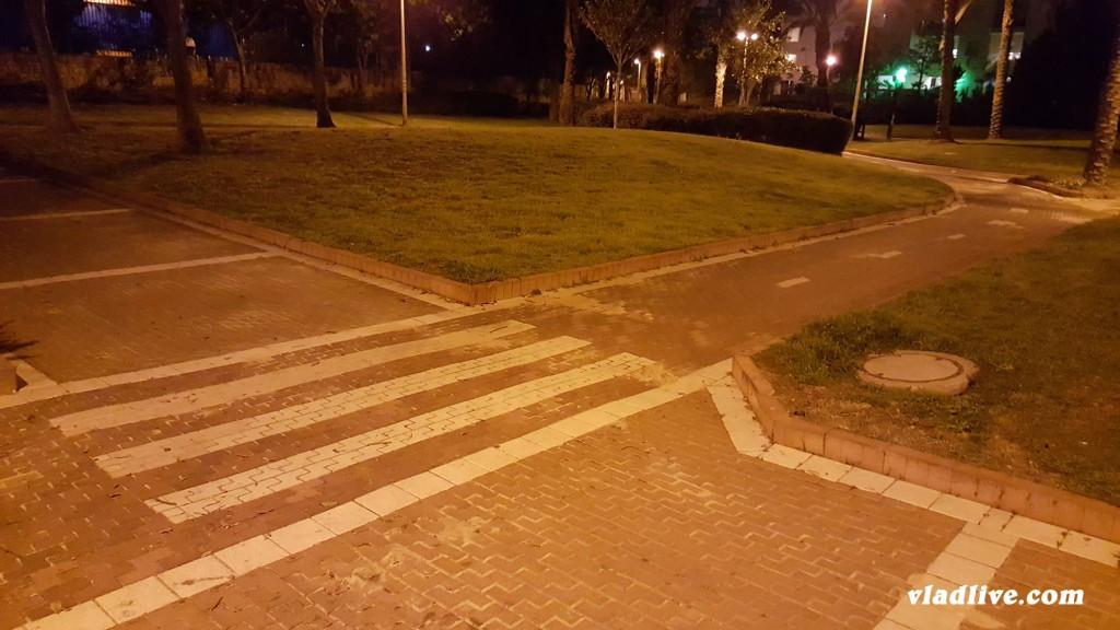 Дорожная разметка в парке