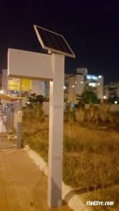 Автобусное расписание на солнечной батарее в Израиле