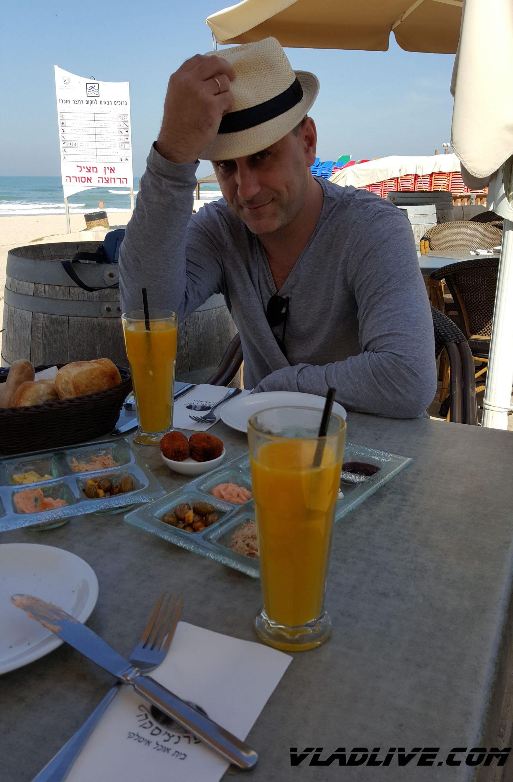Пляжное кафе. Ришон ле-Цион. Завтрак
