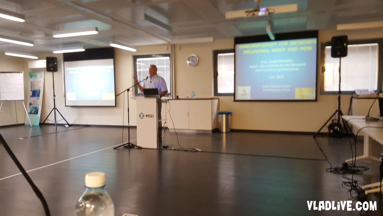 Профессор Яков Шехтер. Выступление на онкофоруме по меланоме в Израиле
