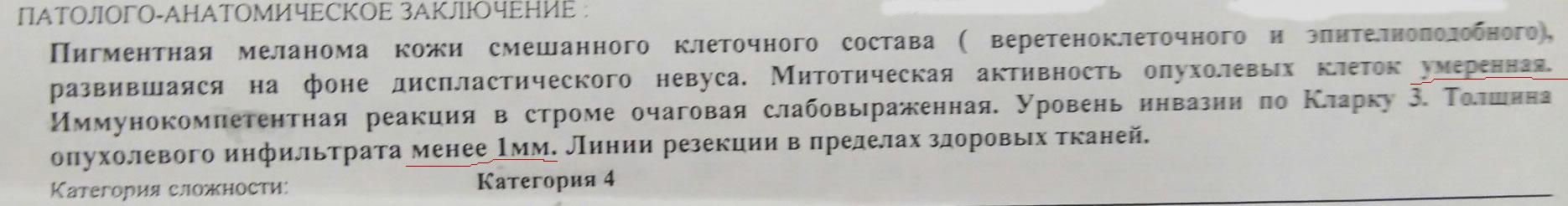 Гистология. Меланома. Россия