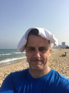 Я, на пляже Ришона ле Циона