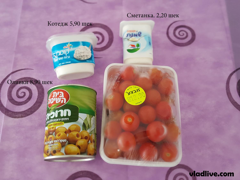 Стоимость продуктов в Израиле